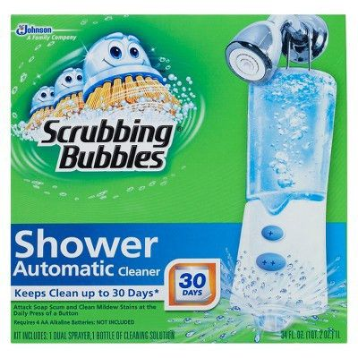 Scrubbing Bubbles Automatic Shower Cleaner w/ Booster Starter ...