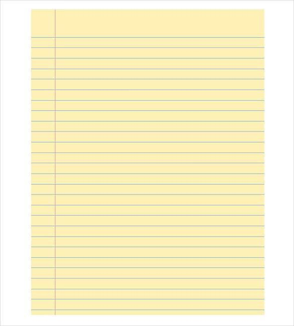 8+ Notebook Paper Templates - Free Sample, Example, Format ...