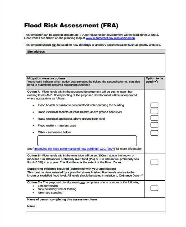 36+ Sample Risk Assessment Form