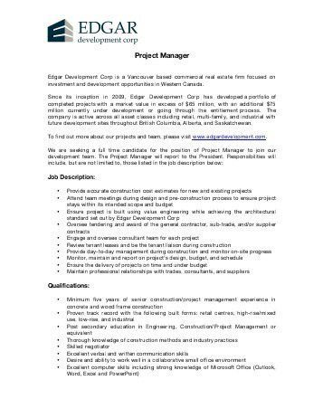 It Project Manager Job Description. Support System Architecture ...