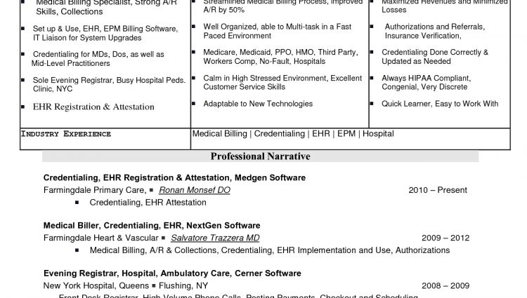 Objective for resume medical billing and coding