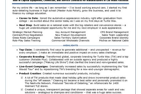 Auto Detailer Resume Examples. tremendous stay at home mom resume ...