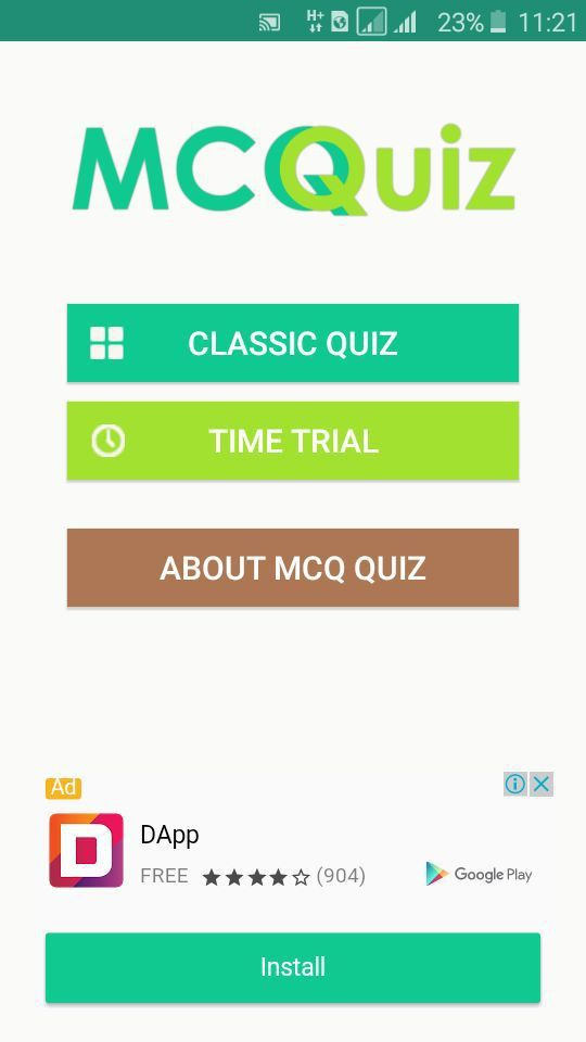 MCQ Quiz - Android Quiz App Template - Quiz And Trivia App ...