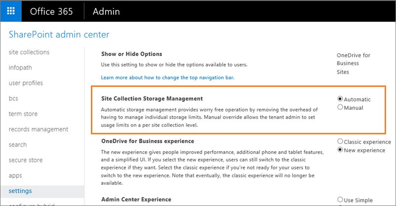 SharePoint Online Storage Quota Exceeded – Change/ Increase Size Limit