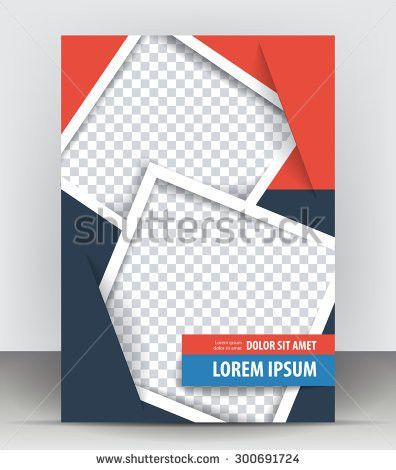 Magazine Flyer Brochure Cover Layout Design Stock Vector 295069196 ...