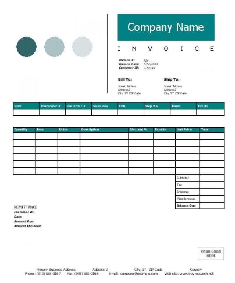 Creative Invoice Template Word | rabitah.net