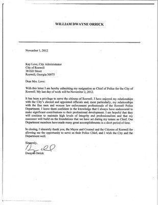 Resignation Letter Copy