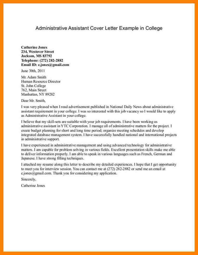 5+ sample cover letters for administrative assistant | handy man ...