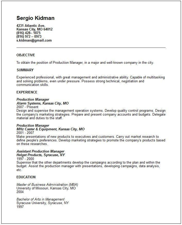 Resume Objectives. Business Operations Manager Resume Objective ...