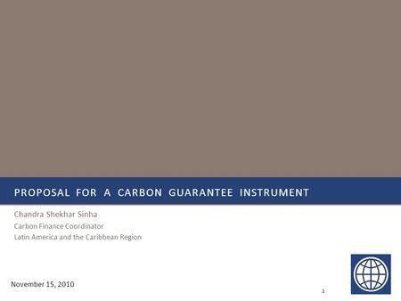 Managing carbon project risks Presented by Adam Shepherd Regional ...