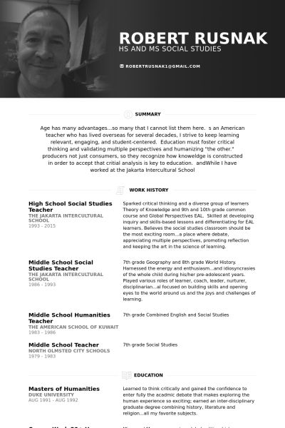 High School Resume samples - VisualCV resume samples database