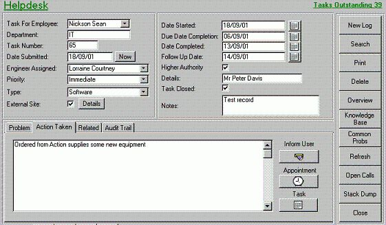 MS Access Helpdesk Ticketing System   MS Access Databases