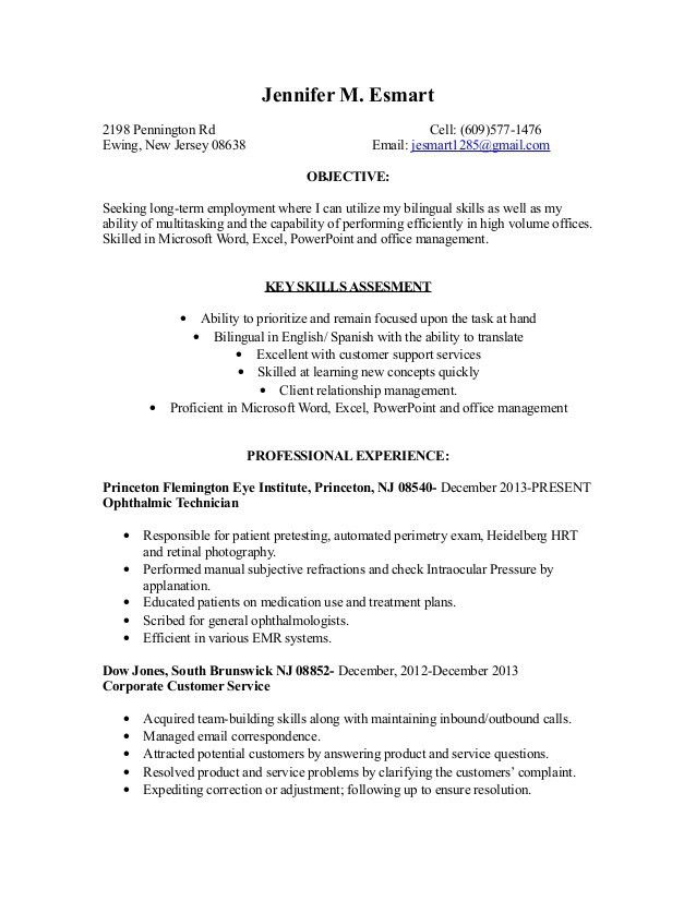 Ophthalmic Technician Cover Letter | haadyaooverbayresort.com