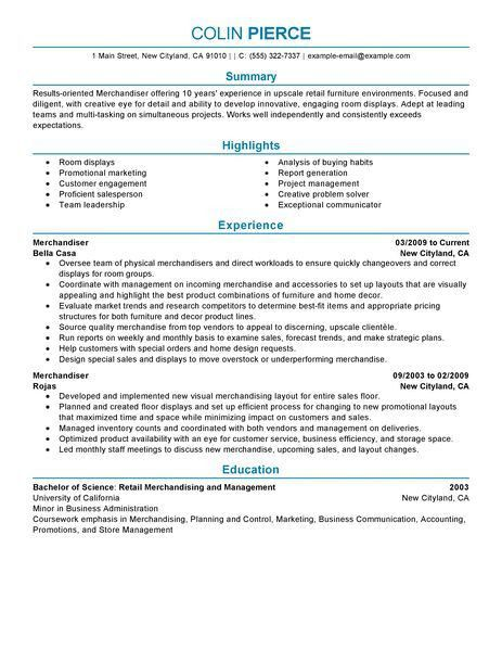 Best Merchandiser Retail Representative Part Time Resume Example ...