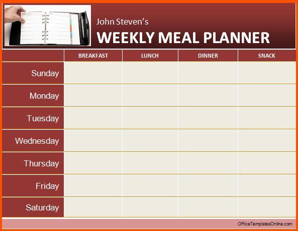 13+ weekly planner template word | Survey Template Words