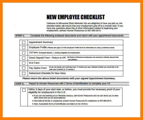human resources checklist