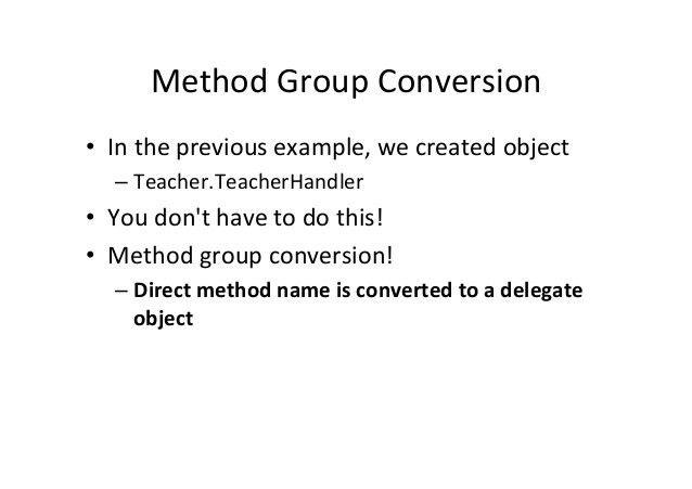 C# Delegates, Events, Lambda