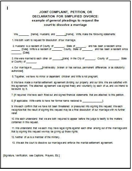 Free Printable Fake Divorce Papers | Samples.csat.co