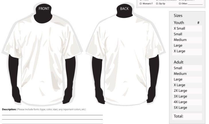 T-Shirt Order Form – SP Sketchbook