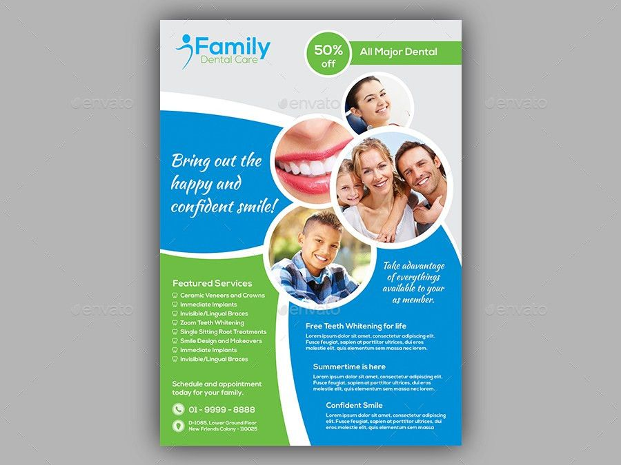 Dentist Flyer Template by dindiagrafix | GraphicRiver