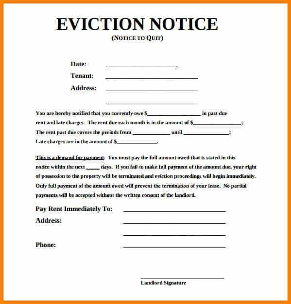 blank eviction notice form free word templates tenant eviction ...