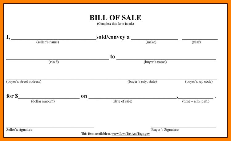6+ bill of sale form for car | lease template