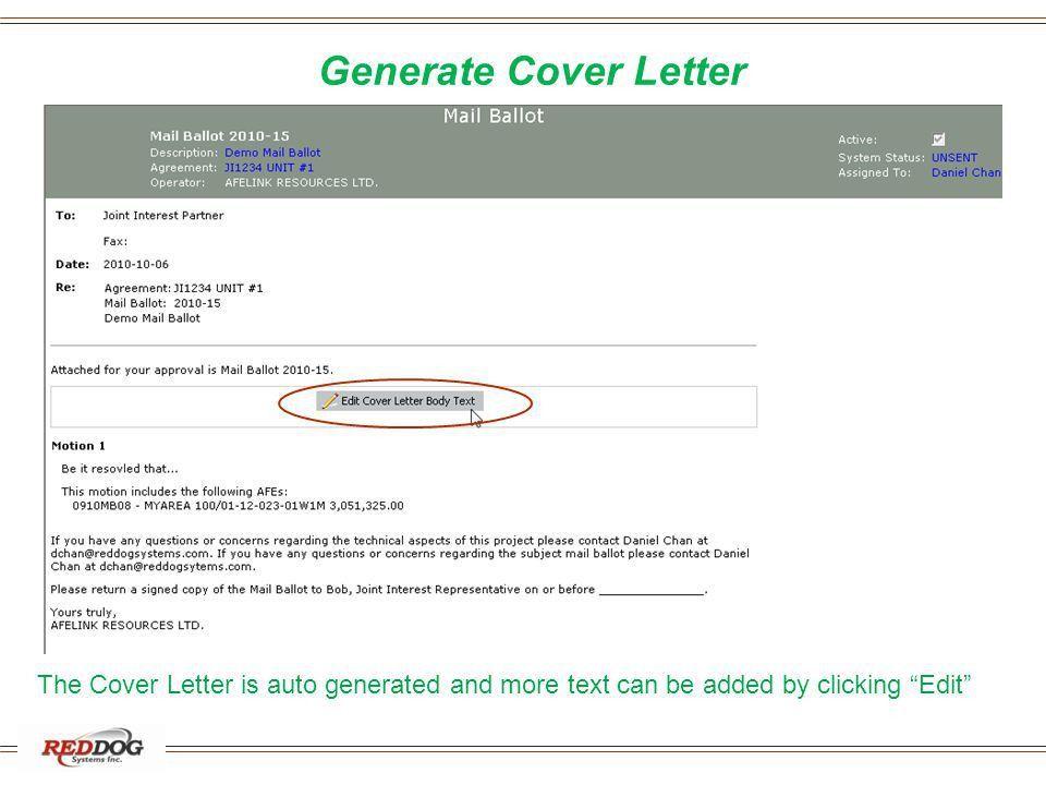 AFELink Mail Ballot Operator Demo - ppt download