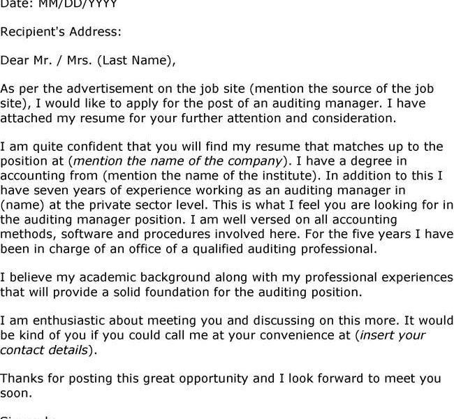 opening sentence cover letters