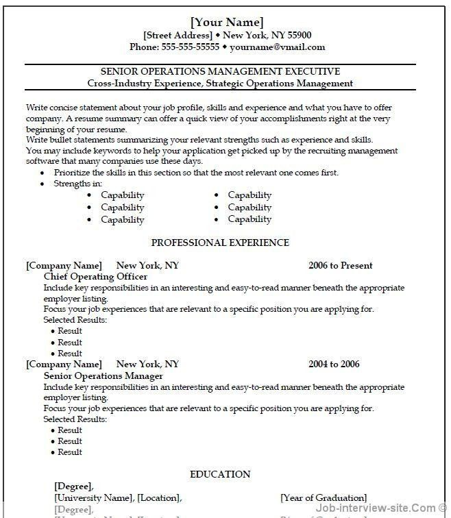 Resume Examples. Educational Teaching Resume Templates for ...