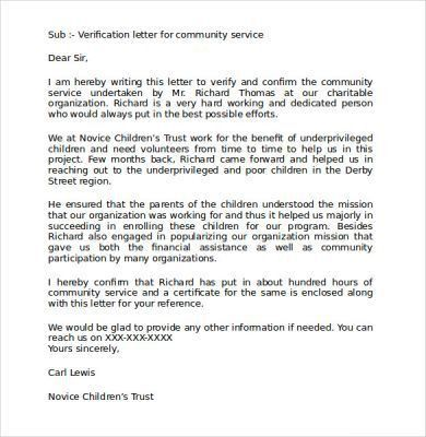 Community Service Recommendation Letters Spearow The One And Only ...