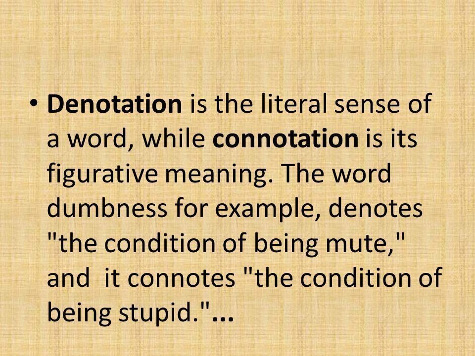 Denotation and Connotation - ppt video online download