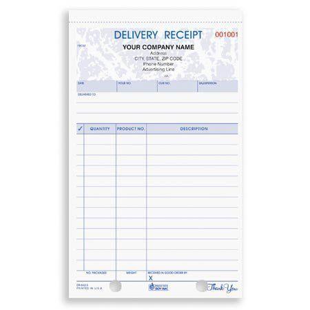 DRCC-642, Delivery Receipt