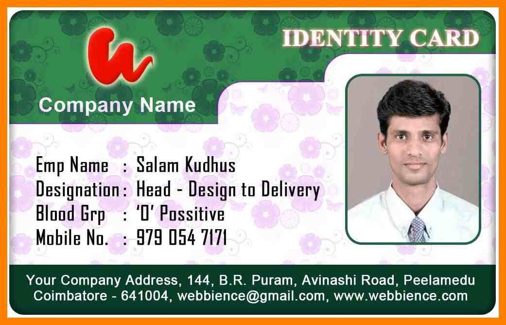 Free Id Card Template. company employee identity card design ...