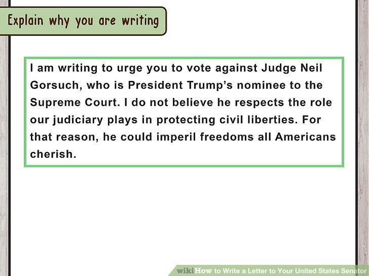 How to Write a Letter to Your United States Senator