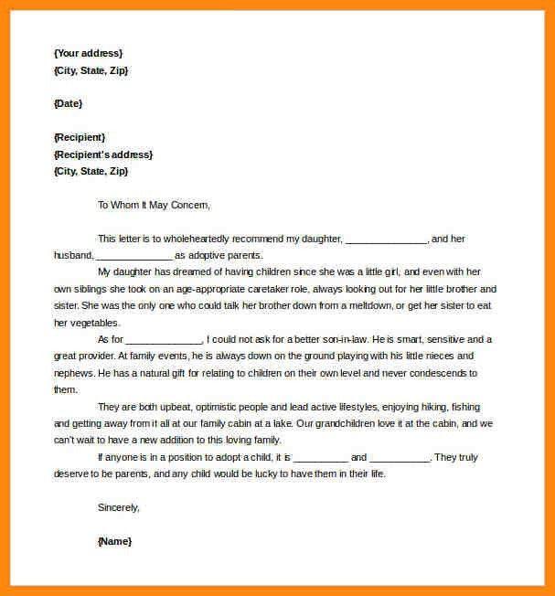 6+ adoption reference letter | nurse resumed