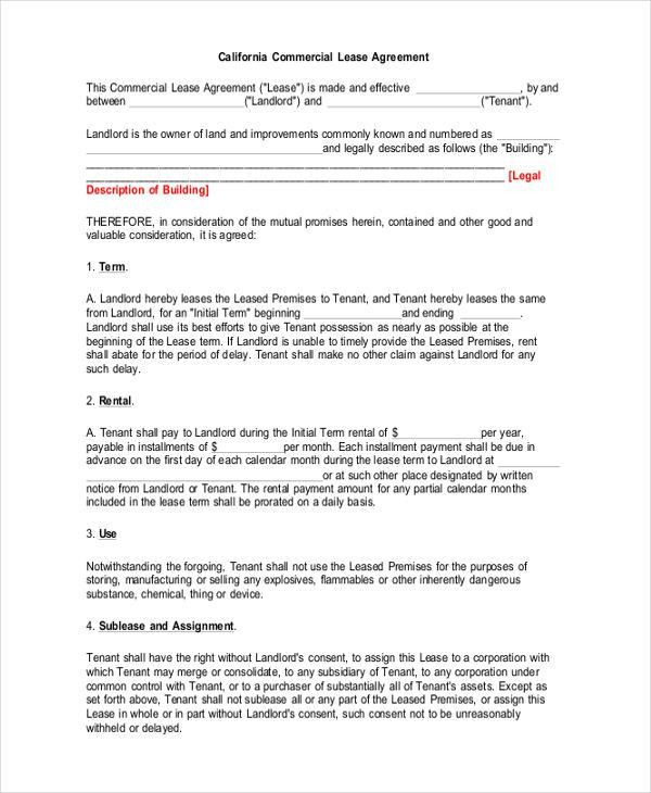 Sample Rental Contract Agreements   8+ Examples In Word, PDF .