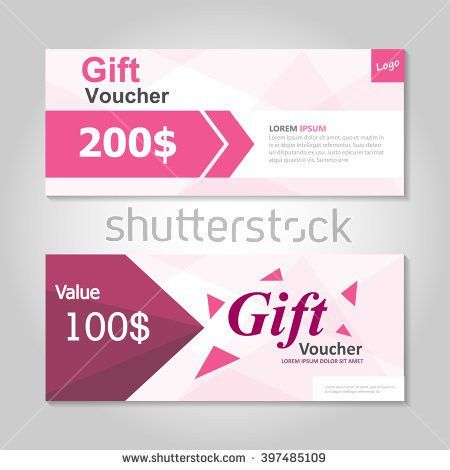 Cute Pink Gift Voucher Template Layout Stock Vector 397485109 ...