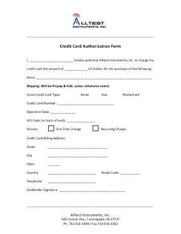 Credit Card Authorization Form - Zehrer Gastronomie GmbH