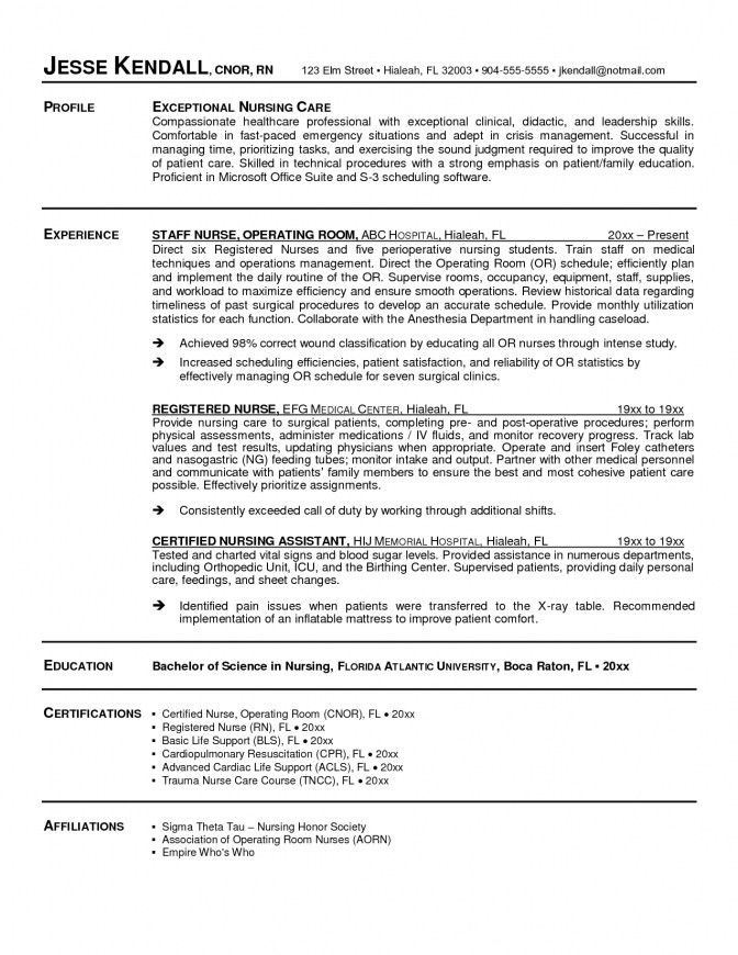 School Nurse Resume Sample | jennywashere.com
