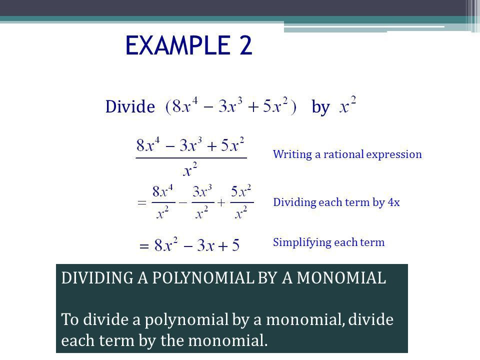 WARM UP Simplify DIVISION OF POLYNOMIALS OBJECTIVES  Divide a ...