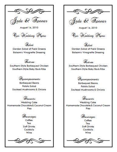Wedding Menu Template 7 | Wedding Menu Templates