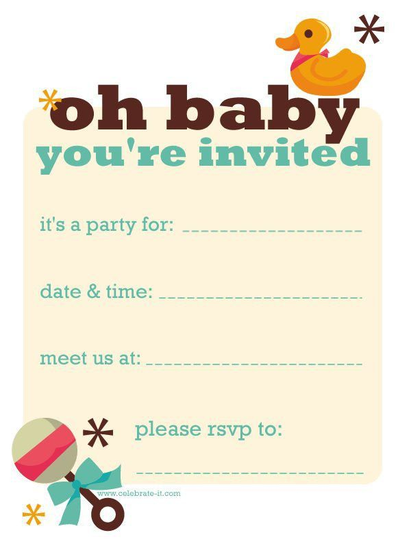 Design : Free Baby Shower Invitations