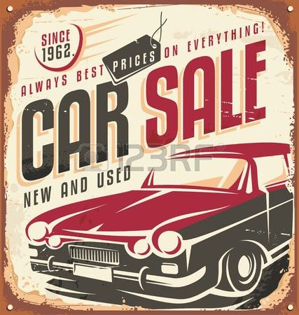 Car Sale Vintage Sign Royalty Free Cliparts, Vectors, And Stock ...