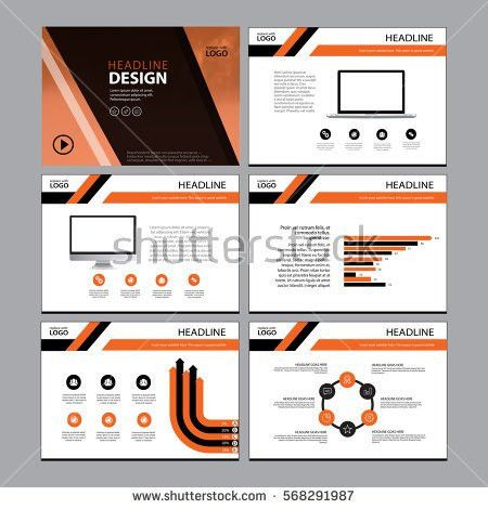 Page Layout Design Template Presentation Brochure Stock Vector ...