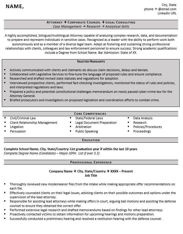 Entry Level Attorney Resume Example and 5 Tips for Writing One ...