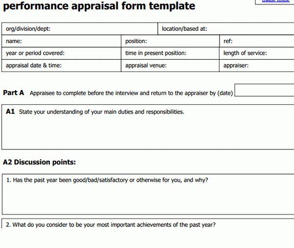 Leadership Performance Appraisal Form | Sample Forms