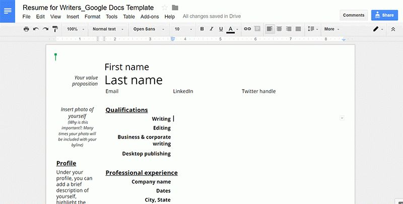 Resume Templates for Writers: Google Docs & Microsoft Word | SORC'D