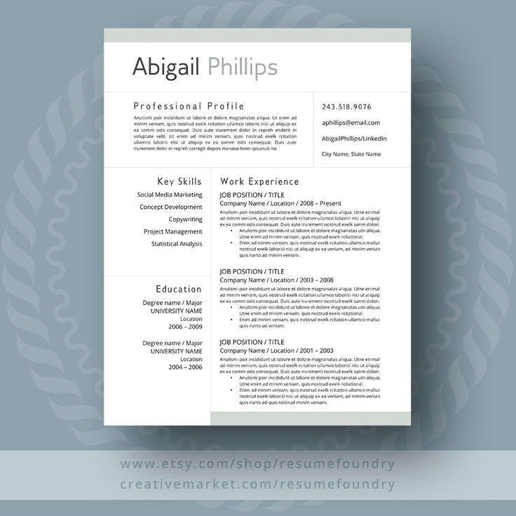 243 best Resume images on Pinterest | Resume templates, Cv ...