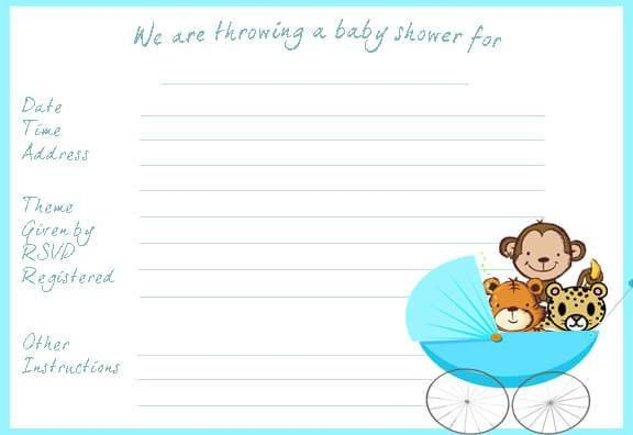 baby shower invitations templates word