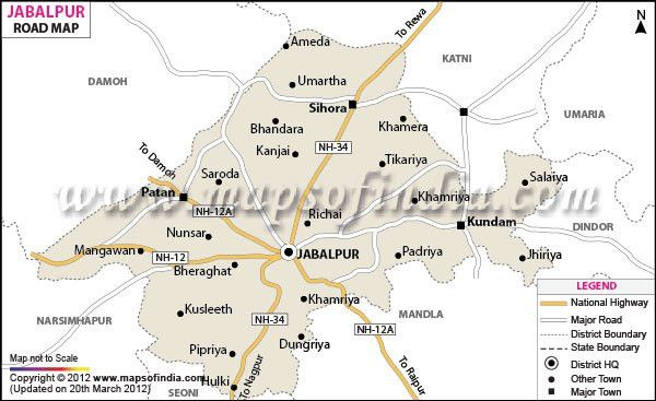 Jabalpur Road Map